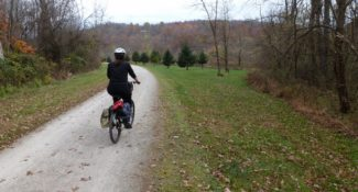 Riding the Great Allegheny Passage.